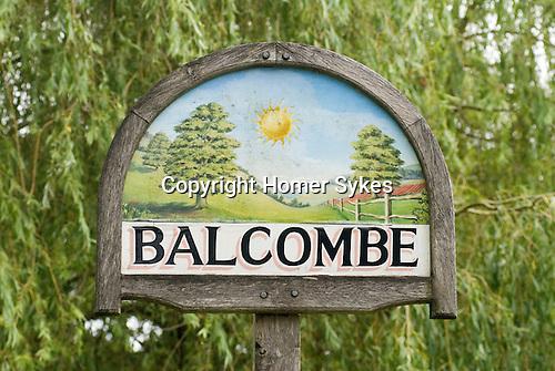 Balcombe West Sussex UK. Village sign.