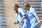28 August 2011: North Carolina's Kelly McFarlane (11) celebrates her goal with teammates Amber Brooks (22) and Ranee Premji (CAN) (behind). The University of North Carolina Tar Heels defeated the University of Houston Cougars 6-1 at Fetzer Field in Chapel Hill, North Carolina in an NCAA Women's Soccer game.