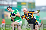 Darragh Long Austin Stacks in action against Flor McAuliffe Saint Kierans in the Quarter Finals of the County Championship at Austin Stack Park on Sunday.