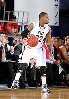 Florida International University center Brandon Moore (22) plays against Florida Atlantic University, which won the game 66-64 on January 21, 2012 at Miami, Florida. .