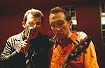 Old time rocker Steve Hooker and singer Graham Fenton from Rockabilly Rebel.<br /> <br /> &copy;&nbsp;Hazel Thompson