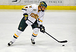 16 November 2008: University of Vermont Catamount defenseman Kyle Medvec, a Sophomore from Burnsville, MN, in action against the Merrimack College Warriors at Gutterson Fieldhouse, in Burlington, Vermont. The Catamounts defeated the Warriors 2-1 in front of a near-capacity crowd of 3,813...Mandatory Photo Credit: Ed Wolfstein Photo