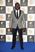 LONDON, UK. March 19, 2019: Melvin O'Doom arriving for the Royal Television Society Awards 2019 at the Grosvenor House Hotel, London.<br /> Picture: Steve Vas/Featureflash