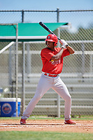 GCL Cardinals third baseman Raffy Ozuna (27) at bat during a game against the GCL Mets on August 6, 2018 at Roger Dean Chevrolet Stadium in Jupiter, Florida.  GCL Cardinals defeated GCL Mets 6-3.  (Mike Janes/Four Seam Images)