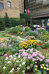 Minnesota, Twin Cities, Minneapolis-Saint Paul: Garden in front of St. Paul Hotel..Photo mnqual302-75290..Photo copyright Lee Foster, www.fostertravel.com, 510-549-2202, lee@fostertravel.com.