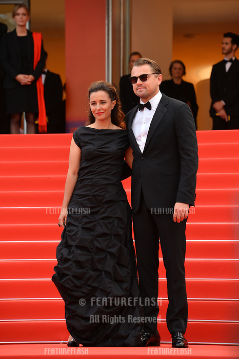 """CANNES, FRANCE. May 22, 2019: Leonardo DiCaprio & Leila Conners at the gala premiere for """"Oh Mercy!"""" at the Festival de Cannes.<br /> Picture: Paul Smith / Featureflash"""