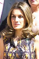 26.07.2012. Princess Letizia of Spain attends audience with the representation of the Spanish Association of Reading Comprehension, chaired by Elena Perez Jimenez at Zarzuela Palace. In the image Princess Letizia (Alterphotos/Marta Gonzalez) /NortePhoto.com<br /> <br /> **CREDITO*OBLIGATORIO** *No*Venta*A*Terceros*<br /> *No*Sale*So*third* ***No*Se*Permite*Hacer Archivo***No*Sale*So*third*©Imagenes*con derechos*de*autor©todos*reservados*.