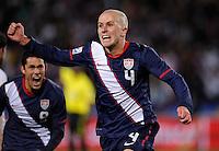 Michael Bradley of USA celebrates his goal, 2-2