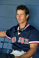 Boston Red Sox Danny Heep during spring training circa 1989 at Chain of Lakes Park in Winter Haven, Florida.  (MJA/Four Seam Images)