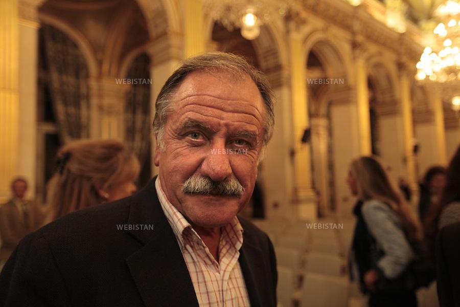 Paris, France, Hotel de Ville, 6 Octobre 2009: Portrait de l'homme politique Noel Mamere durant le Festival Cinema Verite.