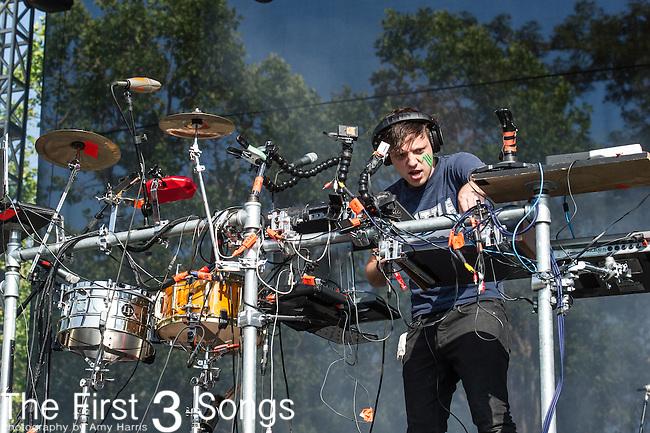 Robert Delong performs at the 2nd Annual BottleRock Napa Festival at Napa Valley Expo in Napa, California.