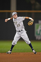 Pittsburgh Panthers shortstop Kevin Johnson #20 during a game against the Michigan Wolverines at the Big Ten/Big East Challenge at Florida Auto Exchange Stadium on February 17, 2012 in Dunedin, Florida.  (Mike Janes/Four Seam Images)
