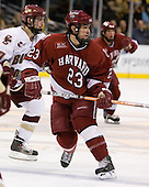 Mike Taylor (Harvard University - Maple Grove, MN) - The Boston College Eagles defeated the Harvard University Crimson 3-1 in the first round of the 2007 Beanpot Tournament on Monday, February 5, 2007, at the TD Banknorth Garden in Boston, Massachusetts.  The first Beanpot Tournament was played in December 1952 with the scheduling moved to the first two Mondays of February in its sixth year.  The tournament is played between Boston College, Boston University, Harvard University and Northeastern University with the first round matchups alternating each year.