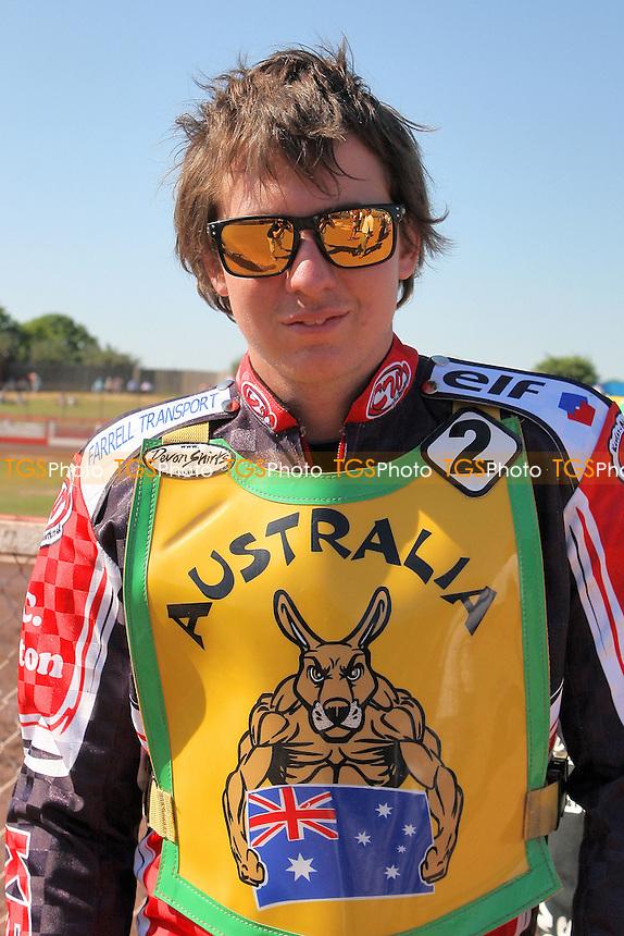 Alex Davies of Australia - FIM Speedway World Under-21 Team Cup Semi Final at Arena Essex Raceway, Purfleet - 27/05/12 - MANDATORY CREDIT: Gavin Ellis/TGSPHOTO - Self billing applies where appropriate - 0845 094 6026 - contact@tgsphoto.co.uk - NO UNPAID USE.