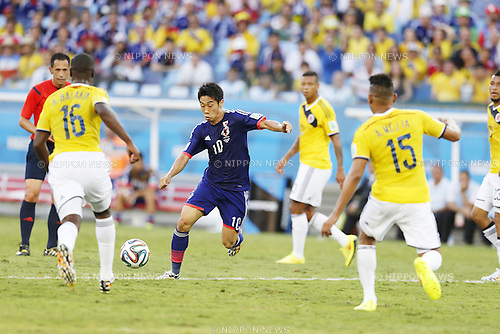 Shinji Kagawa (JPN), JUNE 24, 2014 - Football / Soccer : FIFA World Cup Brazil 2014 Group C match between Japan 1-4 Colombia at the Arena Pantanal in Cuiaba, Brazil. (Photo by AFLO)