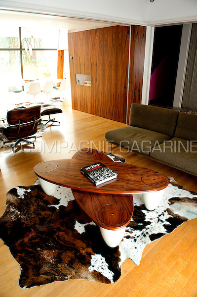 The retro interior of Hooverphonic front man Alex Callier's house in Sint-Niklaas (Belgium, 07/08/2009)