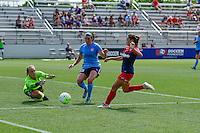Boyds, MD - Sunday July 31, 2016: Caroline Casey, Erin Simon, Estefania Banini during a regular season National Women's Soccer League (NWSL) match between the Washington Spirit and Sky Blue FC at Maureen Hendricks Field, Maryland SoccerPlex.