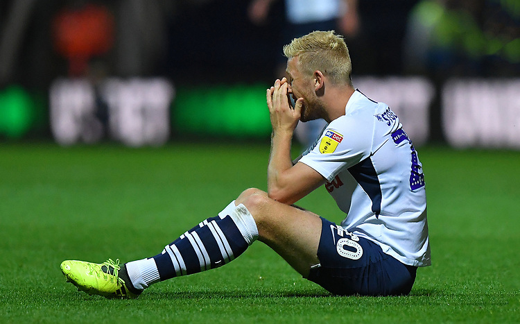 Preston North End's Jayden Stockley<br /> <br /> Photographer Dave Howarth/CameraSport<br /> <br /> The Carabao Cup Second Round - Preston North End v Hull City - Tuesday 27th August 2019  - Deepdale Stadium - Preston<br />  <br /> World Copyright © 2019 CameraSport. All rights reserved. 43 Linden Ave. Countesthorpe. Leicester. England. LE8 5PG - Tel: +44 (0) 116 277 4147 - admin@camerasport.com - www.camerasport.com