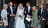 WEDDING OF PRINCE AMEDEO AND ELISABETTA MARIA ROSBOCH VON WOLKENSTEIN<br /> Prince Amedeo the son Princess Astrid of Belgium married Elisabetta Maria Rosboch von Wolkenstein at the Basilica of Santa Maria in Trastevere, in Rome, Italy_05/07/2014<br /> Picture Shows: The wedding couple with (left to right) Princess Astrid, Prince Lorenz Lili Rosboch von Wolkenstein and Ettore Rosboch von Wolkenstein.<br /> Mandatory Credit Photos: &copy;NEWSPIX INTERNATIONAL<br /> <br /> **ALL FEES PAYABLE TO: &quot;NEWSPIX INTERNATIONAL&quot;**<br /> <br /> PHOTO CREDIT MANDATORY!!: NEWSPIX INTERNATIONAL(Failure to credit will incur a surcharge of 100% of reproduction fees)<br /> <br /> IMMEDIATE CONFIRMATION OF USAGE REQUIRED:<br /> Newspix International, 31 Chinnery Hill, Bishop's Stortford, ENGLAND CM23 3PS<br /> Tel:+441279 324672  ; Fax: +441279656877<br /> Mobile:  0777568 1153<br /> e-mail: info@newspixinternational.co.uk