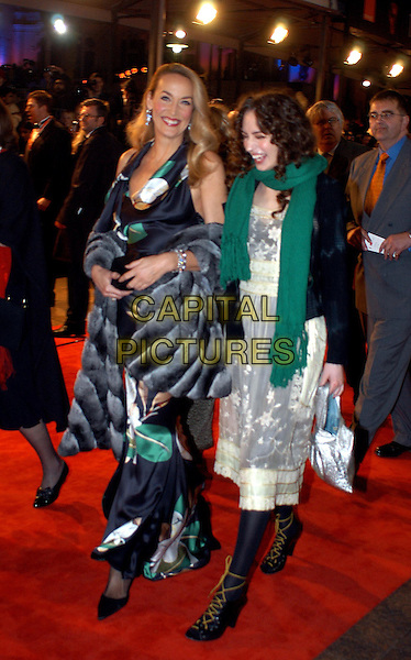 JERRY HALL & ELIZABETH JAGGER.The Orange British Film Academy Awards BAFTAS at Odeon Leicester Square.www.capitalpictures.com.sales@capitalpictures.com.© Capital Pictures