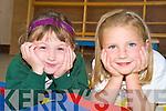 Junior infants at Kilgobnet National School, Beaufort, Ellie O'Leary and Ciara Cronin relax and take a break last week.