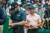 Brandon Grace (RSA)  and Rory McIlroy (NIR) during the first round at the Nedbank Golf Challenge hosted by Gary Player,  Gary Player country Club, Sun City, Rustenburg, South Africa. 08/11/2018 <br /> Picture: Golffile | Tyrone Winfield<br /> <br /> <br /> All photo usage must carry mandatory copyright credit (&copy; Golffile | Tyrone Winfield)