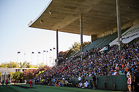 Seattle, WA - Saturday, August 26th, 2017: Seattle Reign FC fans during a regular season National Women's Soccer League (NWSL) match between the Seattle Reign FC and the Portland Thorns FC at Memorial Stadium.