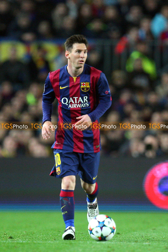 Lionel Messi of FC Barcelona - FC Barcelona vs Manchester City - European Champions League Round of Sixteen Football at the Camp Nou Stadium on  18/03/15 - MANDATORY CREDIT: Dave Simpson/TGSPHOTO - Self billing applies where appropriate - 0845 094 6026 - contact@tgsphoto.co.uk - NO UNPAID USE