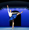 Bolshoi Ballet <br /> The Taming of the Shrew <br /> choreography by Jean-Christophe Maillot <br /> at The Royal Opera House, Covent Garden, London, Great Britain <br /> rehearsal of act 1<br /> 3rd August 2016 <br /> <br /> <br /> <br /> Olga Smirnova as Bianca <br /> <br /> <br /> <br /> Photograph by Elliott Franks <br /> Image licensed to Elliott Franks Photography Services