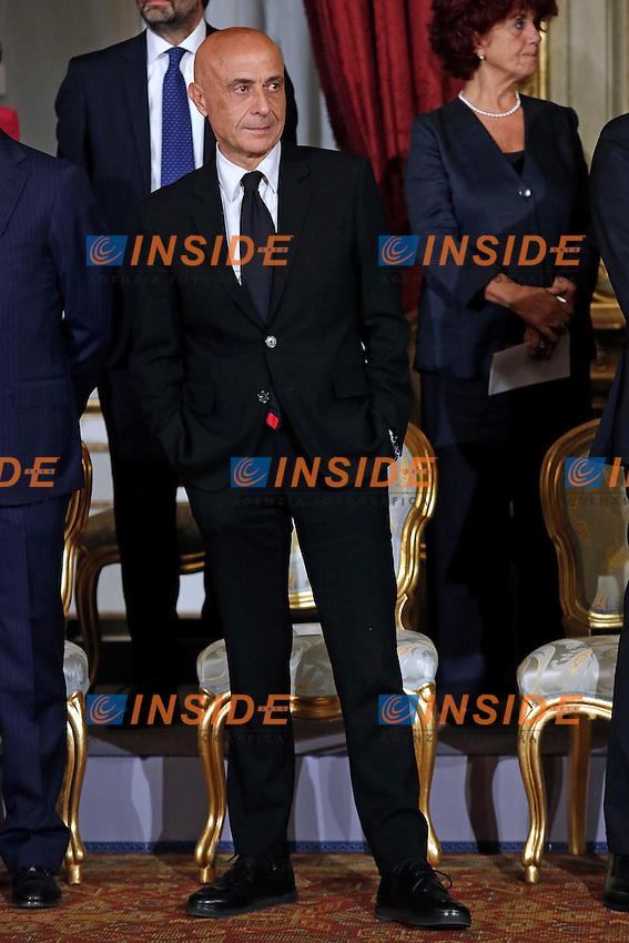 Marco Minniti <br /> Roma 12-12-2016. Quirinale Cerimonia del Giuramento dei Ministri del nuovo Governo<br /> Rome December 12th 2016. Swearing ceremony of the new Government<br /> Foto Samantha Zucchi Insidefoto