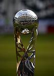 12.08.2018, Commerzbank - Arena, Frankfurt, GER, Supercup, Eintracht Frankfurt vs FC Bayern M&uuml;nchen , <br />DFL REGULATIONS PROHIBIT ANY USE OF PHOTOGRAPHS AS IMAGE SEQUENCES AND/OR QUASI-VIDEO.<br />im Bild<br />Der Supercup Pokal und der neue Derbystar Soielball<br /> <br /> Foto &copy; nordphoto / Bratic
