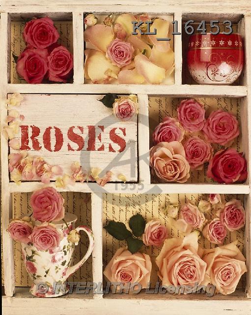 Interlitho, FLOWERS, BLUMEN, FLORES, photos+++++,roses,letter case,KL16453,#F#