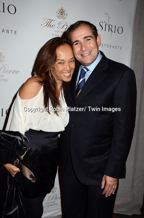 Liana and Arthur Backal attends the Sirio Ristorante New York opening in the Pierre Hotel, a TAJ Hotel on October 24, 2012 in New York City. Sirio Maccioni hosted the party