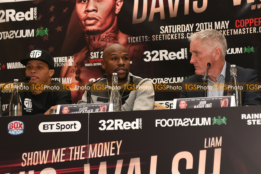 Floyd Mayweather speaks during a Press Conference at the Landmark Hotel on 18th May 2017