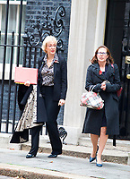 LONDON, UNITED KINGDOM - NOVEMBER 06: Lord President of the Council and Leader of the House of Commons Andrea Leadsom &amp; Leader of Lords, Baroness Evans leaves after a Cabinet meeting at 10 Downing Street in central London. November 06, 2018 in London, England. <br /> CAP/GOL<br /> &copy;GOL/Capital Pictures