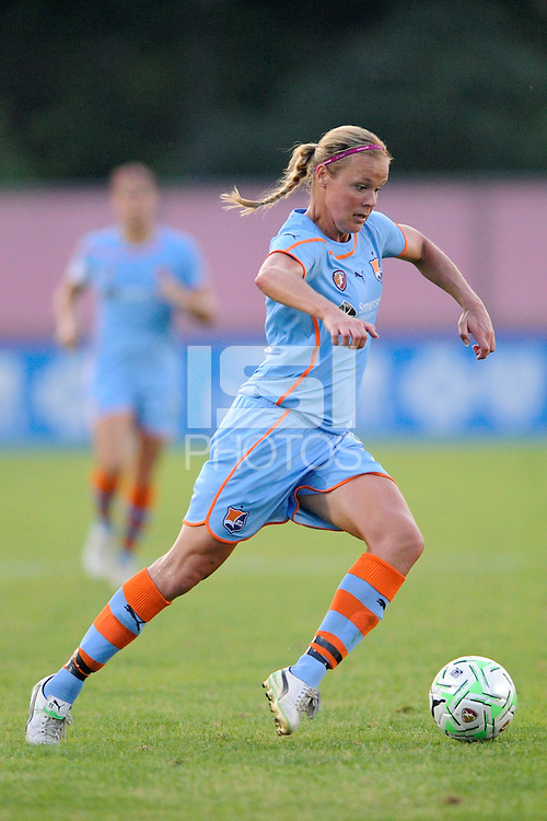 Laura Kalmari (21) of Sky Blue FC. Sky Blue FC defeated the Atlanta Beat 1-0 during a Women's Professional Soccer (WPS) match at Yurcak Field in Piscataway, NJ, on June 22, 2011.