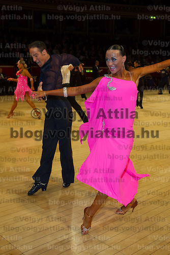 Massimo Arcolin and Lyubov Mushtuk from Italy perform their dance during the Amateur latin-american competition of the International Championships held in Royal Albert Hall, London, United Kingdom on Thursday, 21. October 2010. ATTILA VOLGYI