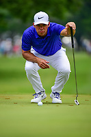 Paul Casey (GBR) lines up his putt on 3 during round 3 of the Dean &amp; Deluca Invitational, at The Colonial, Ft. Worth, Texas, USA. 5/27/2017.<br /> Picture: Golffile | Ken Murray<br /> <br /> <br /> All photo usage must carry mandatory copyright credit (&copy; Golffile | Ken Murray)