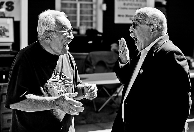 Rep. Gerry Connolly, D-Va., speaks to voters at the Labor Day Car Show in Clifton, Va., on Sept. 6, 2010.