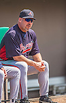 11 March 2013: Atlanta Braves manager Fredi Gonzalez sits at the dugout prior to a Spring Training game against the Washington Nationals at Space Coast Stadium in Viera, Florida. The Braves defeated the Nationals 7-2 in Grapefruit League play. Mandatory Credit: Ed Wolfstein Photo *** RAW (NEF) Image File Available ***