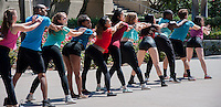 Students explore the 2014 Involvement Fair, checking out clubs as well as performances from Dance Team, Drumline, Cadence, and Dance Pro (Photo by Nick Harrington, Occidental College '17, Photo Assistant)