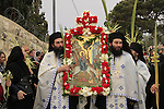 Israel, Jerusalem, the Greek Orthodox Lazarus Saturday procession in Bethfage on the Mount of Olives