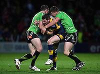 PICTURE BY VAUGHN RIDLEY/SWPIX.COM - Rugby League - Super League - Leeds Rhinos v Salford City Reds - Headingley, Leeds, England - 31/08/12 - Leeds Brett Delaney.