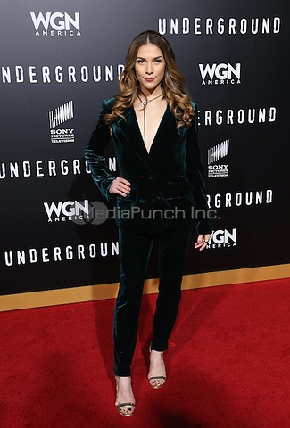"WESTWOOD, CA - February 28: Allison Holker, At Premiere Of WGN America's ""Underground"" Season 2, At The Regency Village Theatre In California on February 28, 2017. Credit: Faye Sadou/MediaPunch"