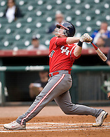 Houston Cougars Catcher Chris Wallace (#20) against the Missouri Tigers on Friday March 5th, 2100 at the Astros College Classic in Houston's Minute Maid Park.  (Photo by Andrew Woolley / Four Seam Images)