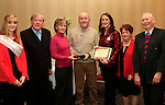Rita and Mick Gibbon accept 1st Place Award from Roisin Kavanagh, Cllr. Frank Godfrey, Caroline Kavanagh, Deirdre Howard Russell and Liam Wilson at the Christmas Illumination Awards in Westcourt Hotel...Photo NEWSFILE/Jenny Matthews..(Photo credit should read Jenny Matthews/NEWSFILE)