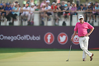 Miguel Angel Jimenez (ESP) during the second round of the Omega Dubai Desert Classic, Emirates Golf Club, Dubai, UAE. 25/01/2019<br /> Picture: Golffile | Phil Inglis<br /> <br /> <br /> All photo usage must carry mandatory copyright credit (© Golffile | Phil Inglis)