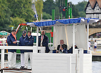 Henley, GREAT BRITAIN, Stewards watch the Princess Elizabeth Final. 2008 Henley Royal Regatta, on  Sunday, 06/07/2008,  Henley on Thames. ENGLAND. [Mandatory Credit:  Peter SPURRIER / Intersport Images] Rowing Courses, Henley Reach, Henley, ENGLAND . HRR
