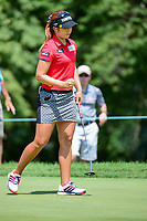 Jeongeun6 Lee (KOR) sinks her putt on 1 during Sunday's final round of the 72nd U.S. Women's Open Championship, at Trump National Golf Club, Bedminster, New Jersey. 7/16/2017.<br /> Picture: Golffile | Ken Murray<br /> <br /> <br /> All photo usage must carry mandatory copyright credit (&copy; Golffile | Ken Murray)