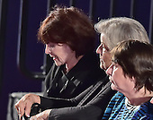 From left to right: Bill Clinton accusers Kathleen Willey, left,  Juanita Broaddrick, center, and rape victim Kathy Shelton, right, appear prior to former United States Secretary of State Hillary Clinton, the Democratic Party nominee for President of the US and businessman Donald J. Trump, the Republican Party candidate for President of the US, are introduced for the second of three presidential general election debates at Washington University in St. Louis, Missouri on Sunday, October 8, 2016.<br /> Credit: Ron Sachs / CNP<br /> (RESTRICTION: NO New York or New Jersey Newspapers or newspapers within a 75 mile radius of New York City)